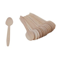 Disposable Wooden Spoon 11 cm (Pack of 10000)