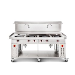 4 Burner Induction Chinese Range