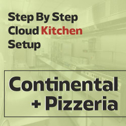 Cloud Kitchen 250 Sq. Ft. Consulting - (Continental + Pizzeria)
