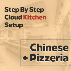 Cloud Kitchen 250 Sq. Ft. Consulting - (Chinese + Pizzeria)