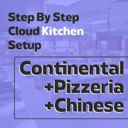 Cloud Kitchen 350 Sq. Ft. Consulting - (Triple Cuisine C)